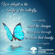 butterfly in compassionate friends