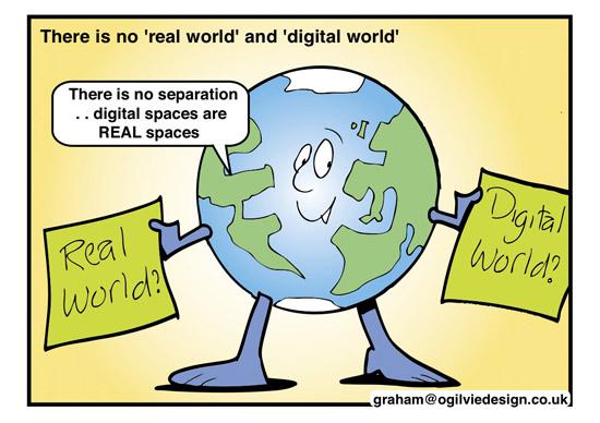 real world and digital world