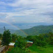 rainbow in taal lake