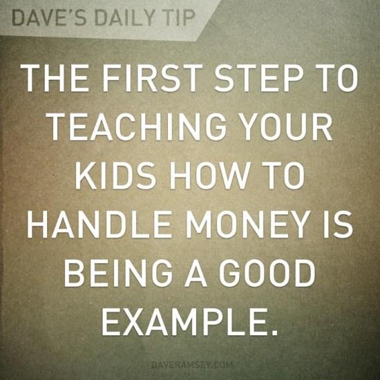first step in handling money