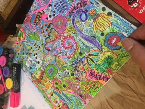 my husband's work in coloring book