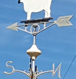 Weather vane with sheep