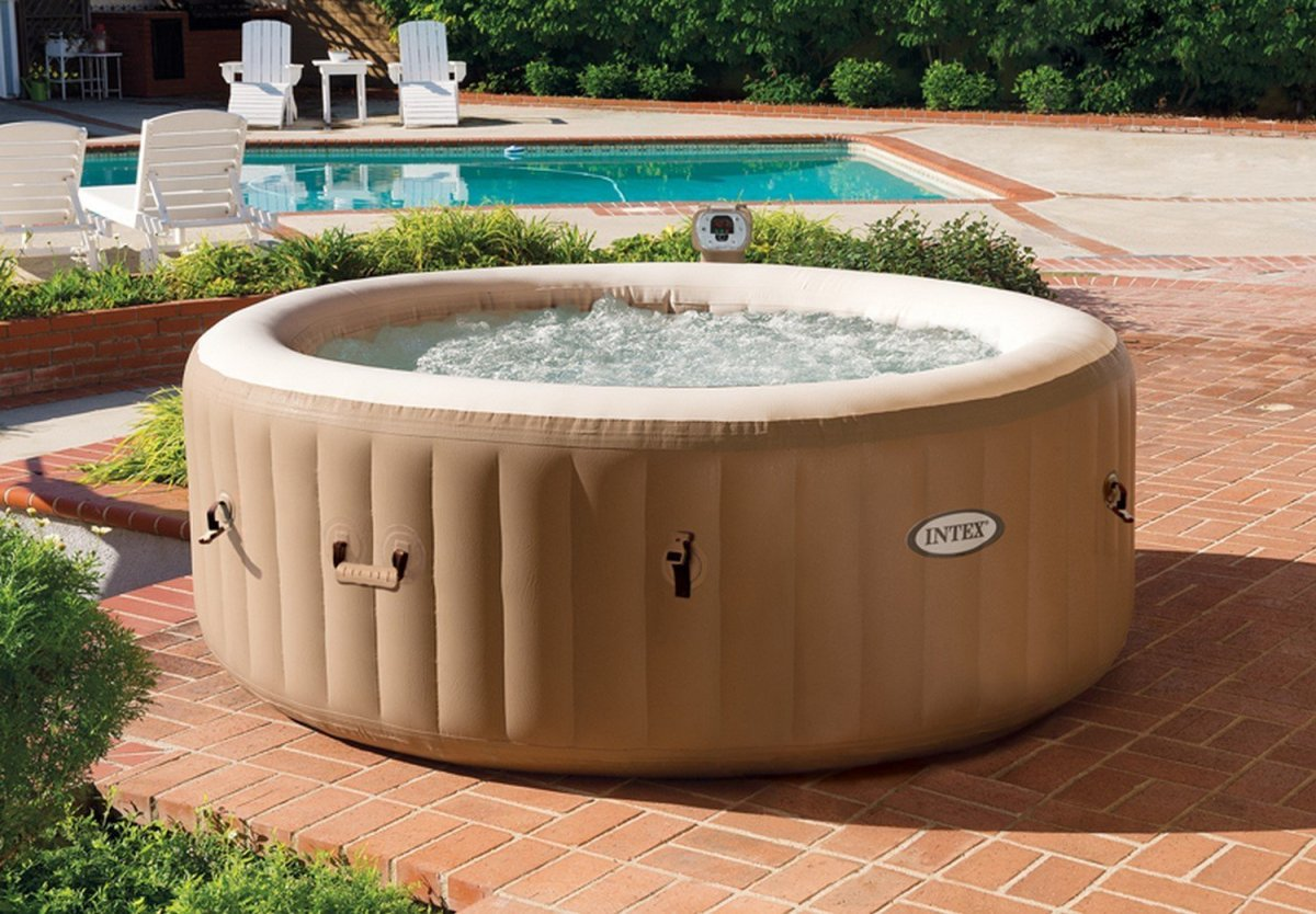 intex purespa bubble therapy portable spa inflatable hot tub best above ground pools. Black Bedroom Furniture Sets. Home Design Ideas