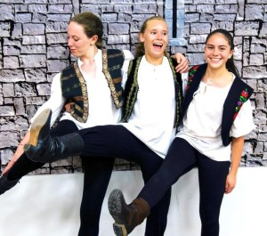 Amali, Megan, and Marisa at August Camp 2014