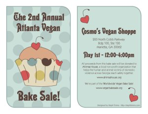2010 vegan bake sale flyer