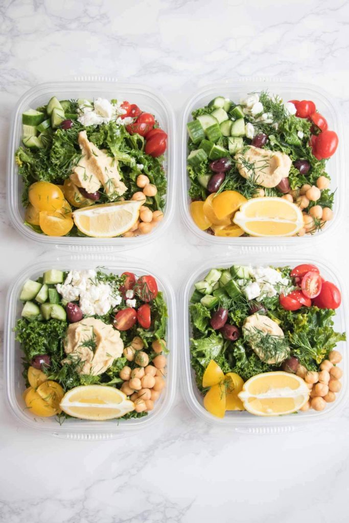 Greek Kale and Quinoa Salad Meal Prep Bowls Abra\u0027s Kitchen
