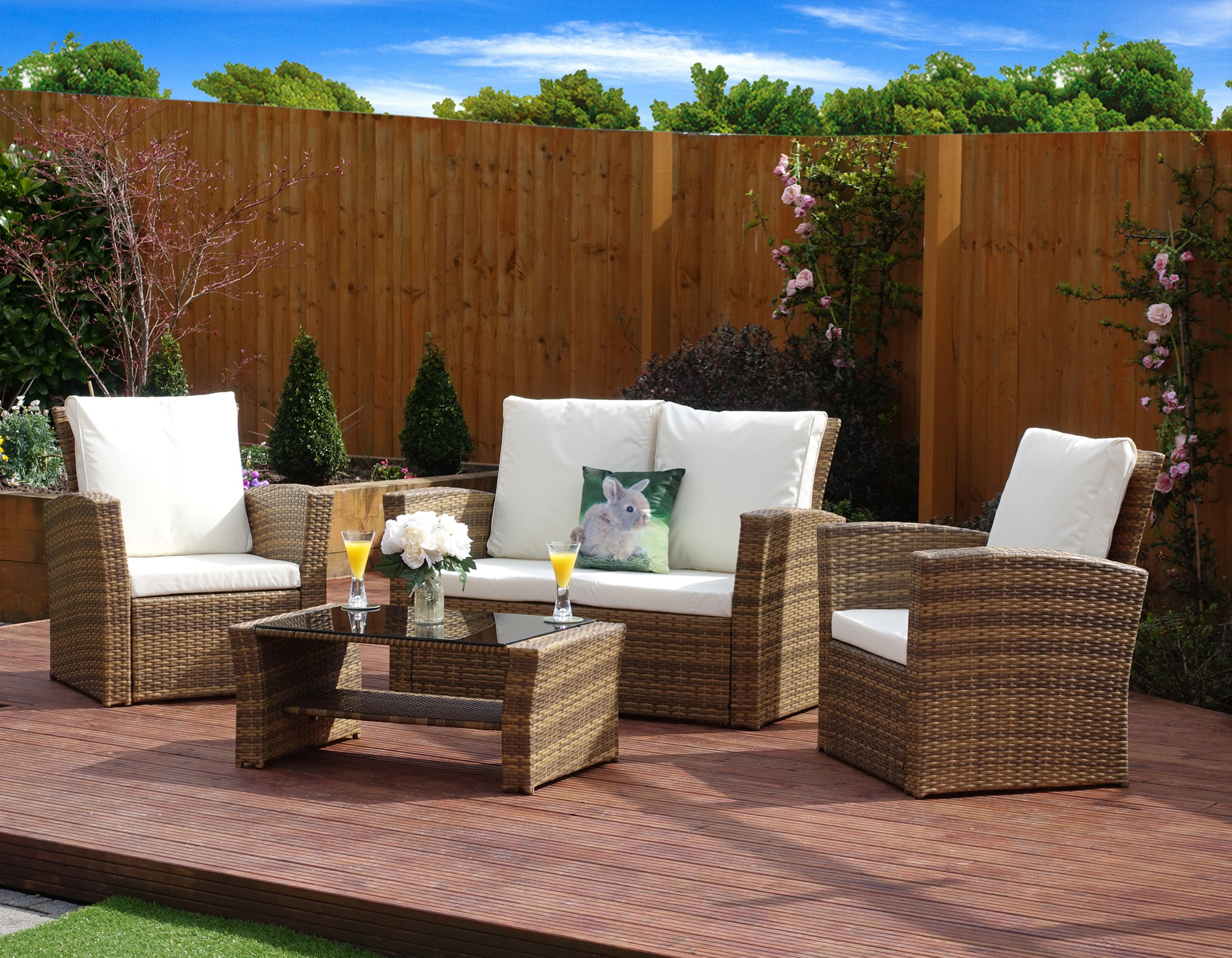 Florence 8 Piece Rattan Sofa Set With Cushions 4 Piece Algarve Rattan Sofa Lounge Set For Patios