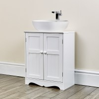 Oxford White Under-Sink Storage Unit Abreo Home Furniture