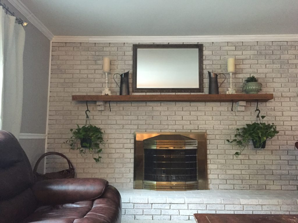 Whitewash Fireplace Before And After How To Whitewash Your Brick Fireplace A Brick Home