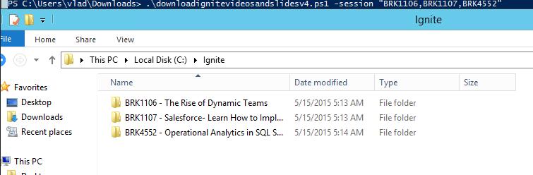 Download Microsoft Ignite Videos