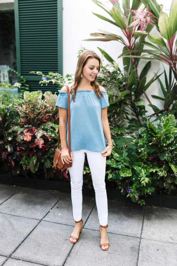Off the Shoulder Top with Grace & Emma by FL fashion blogger Absolutely Annie