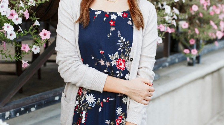 Transitioning to Fall: Floral Dress under $30