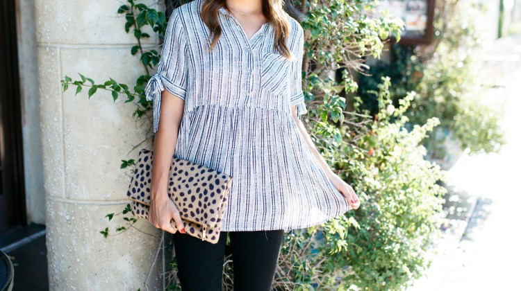 Peplum Top for Fall with Fancy Frills