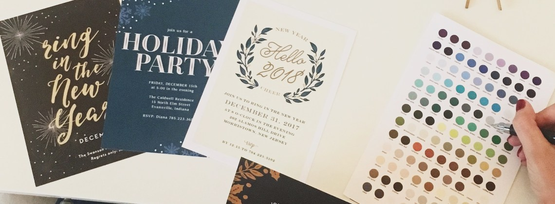 Custom Holiday Party Invitations with Basic Invite