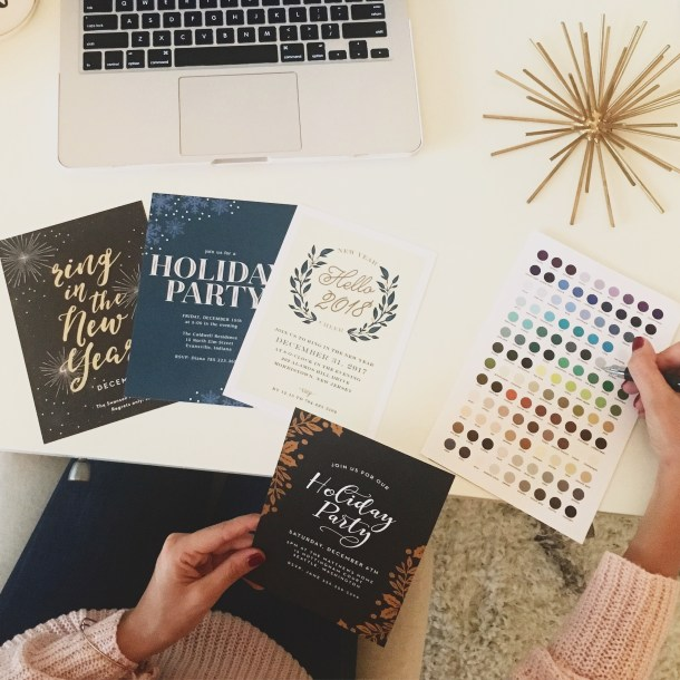 Custom Holiday Party Invitations with Basic Invite by popular Florida blogger Absolutely Annie