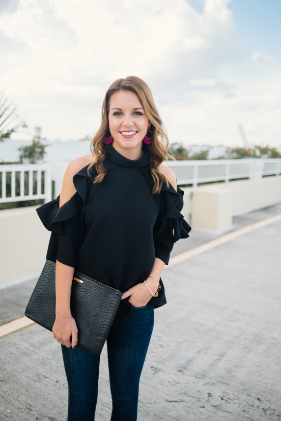 How to Style Statement Earrings in the Fall by Florida fashion blogger Absolutely Annie
