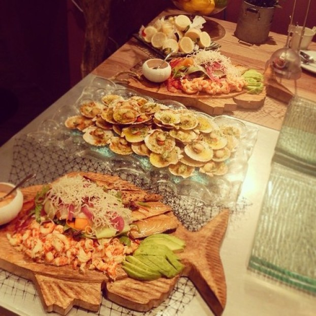 The amazing seafood starter platters