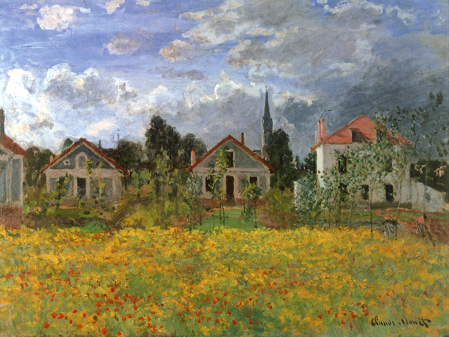 Photo Argenteuil Claude Monet Paintings Houses At Argenteuil Jpg