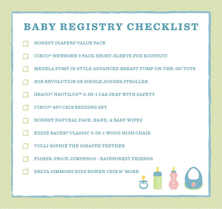 Baby Registry Checklist Shop Satcha Prettou0027s Must-Have Picks - newborn checklist