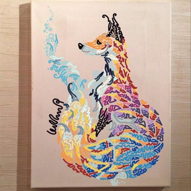 لوحات فنية مكونة من منحنيات زخرفية مع هدى الشاوي