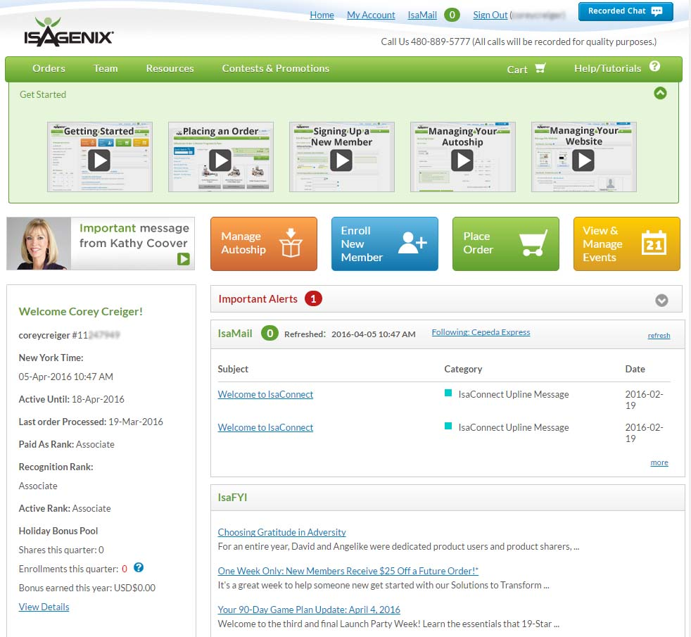 isagenix backoffice
