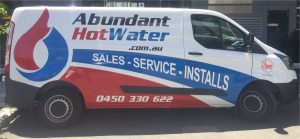 Hot Water Repair Technician Van