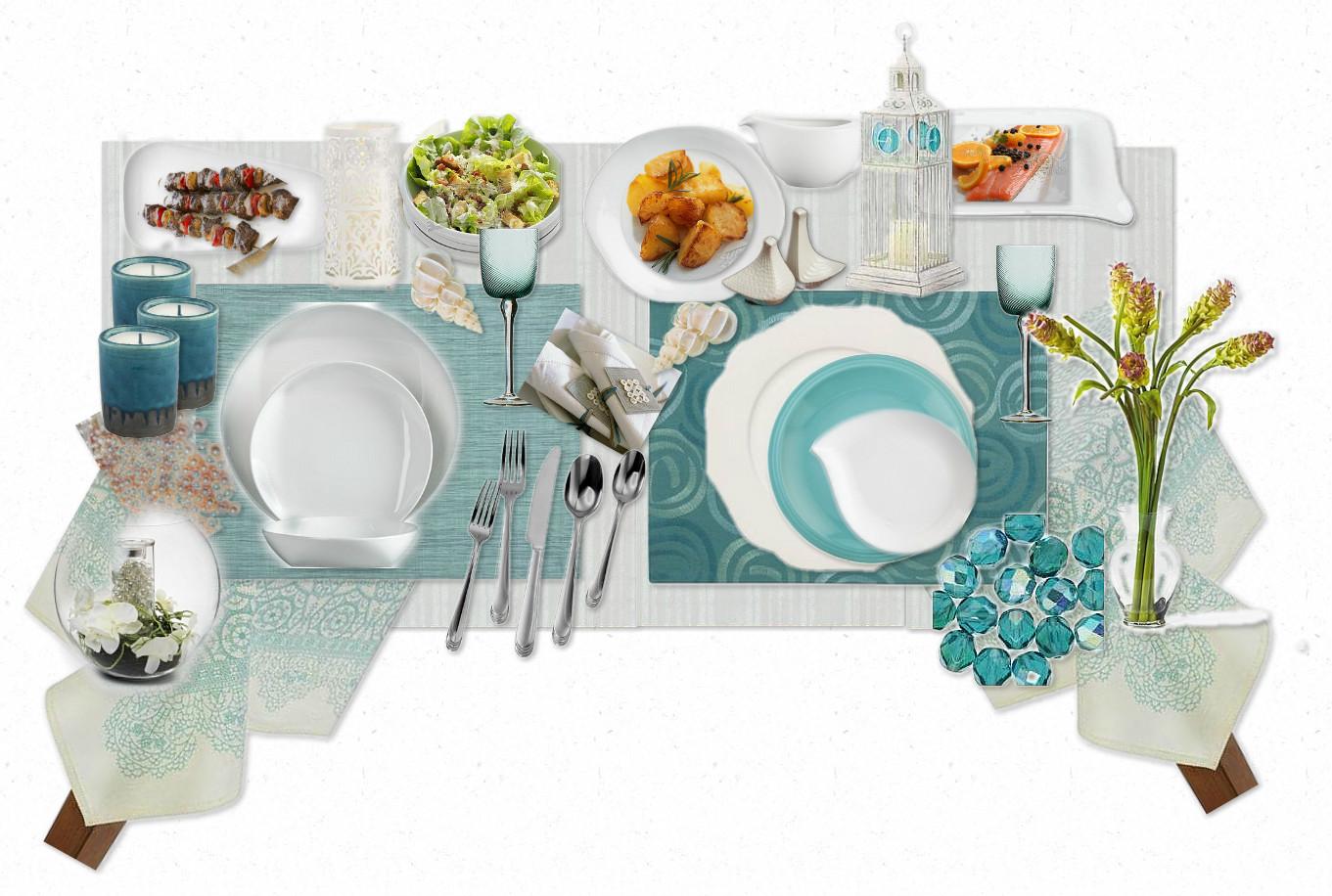 Teal Table Settings - Castrophotos