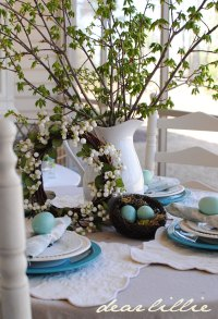 teal table setting | Wheely Mummy