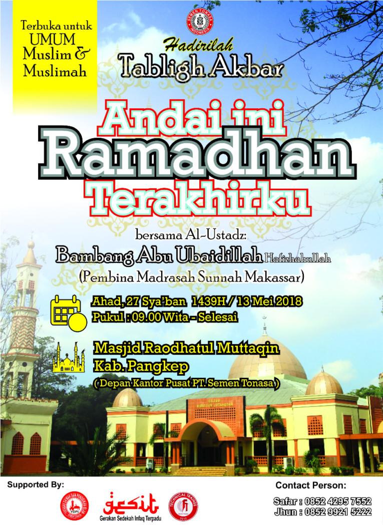 Tabligh Akbar Ramadan Tonasa Pangkep