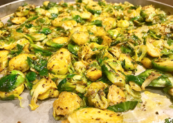 Fanciful Step While Brussel Sprouts Are Start Frying He I Saythis Is A One Pan Meal Because I Used Brussel Sprout Pan Keto Roasted Brussel Sprouts Acacia Uncorked