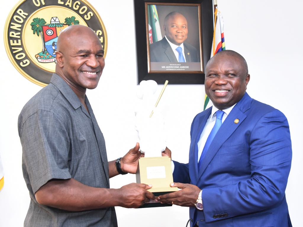 Preferential Lagos Akinwunmi Ambode Presenting An Eyo Plaque Evander Holyfield Visits Donates Health Equipment To Evander Holyfield House S Evander Holyfield House Address curbed Evander Holyfield House