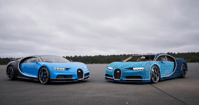 Lego Built A Life Size Drivable Bugatti From Over A
