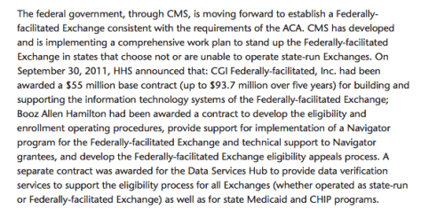 Page 12 of the Study Panel on Health Insurance Exchanges; Professor Gruber was a member