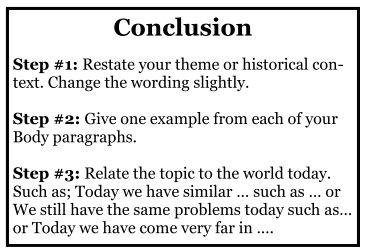 How To Write A Conclusion Academichelpnet