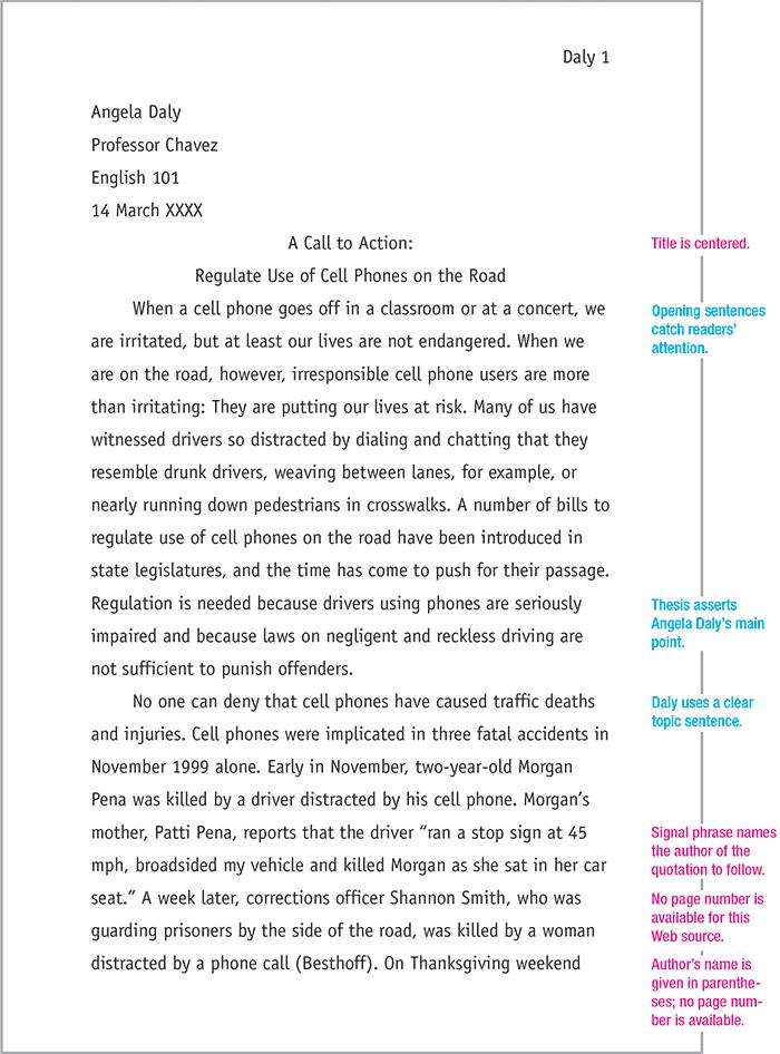 how to write an mla heading