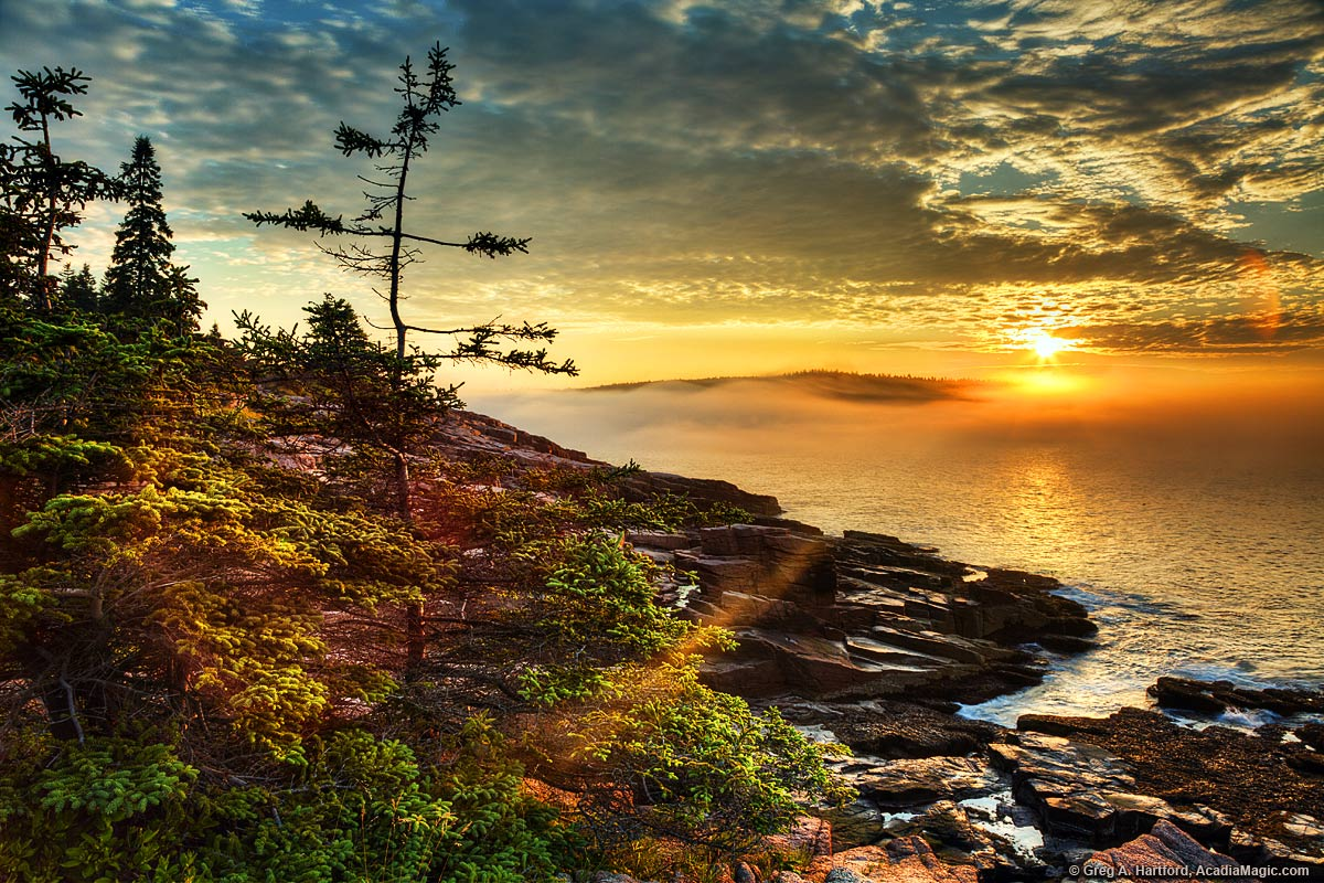 Fall Scenery Hd Wallpaper Stunning Acadia Sunrise On Coastal Maine