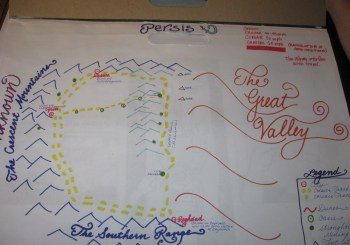 Map Drawn by A. Catherine Noon and Rachel Wilder. Copyright 2012; All Rights Reserved.