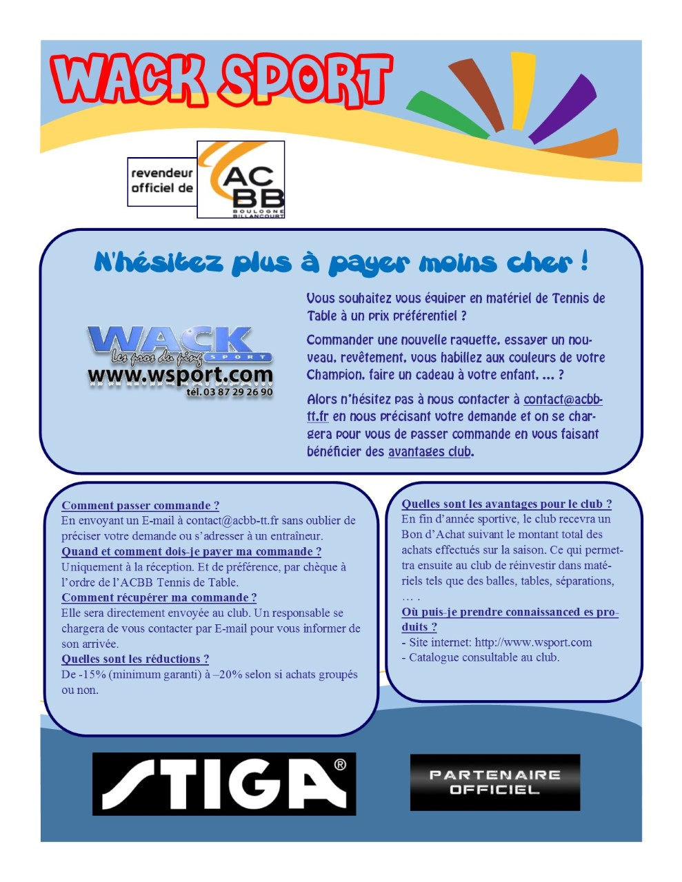 Wack Sport Tennis De Table Partenariat Wack Sport