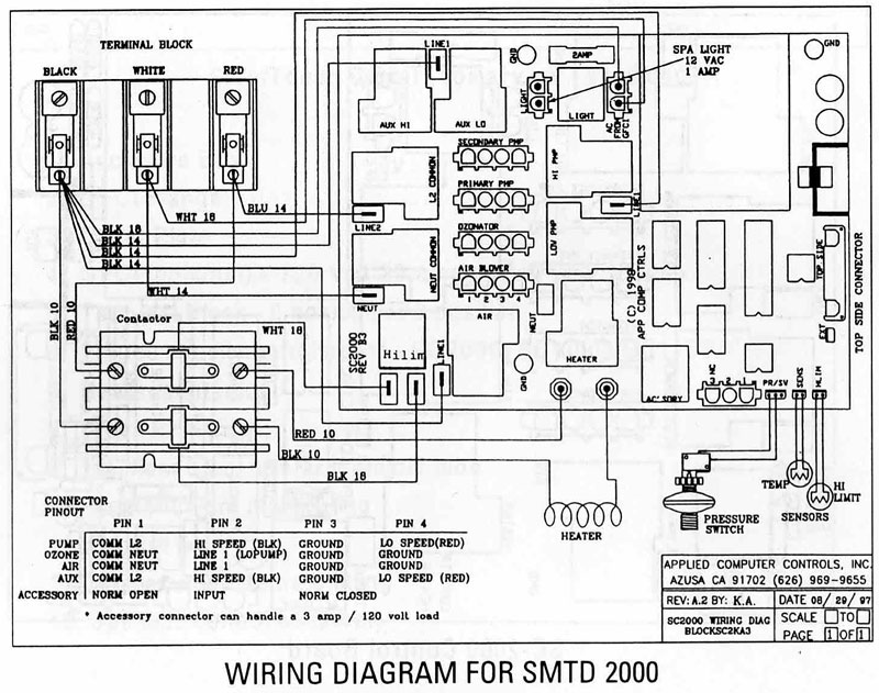 watkins hot tub wiring diagram