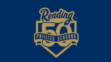 "The Fightin's ""50 Seasons in Reading"" logo Photo from www.fightins.com"