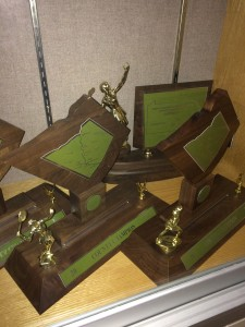 The girls' tennis team has earned its own corner of the trophy case.