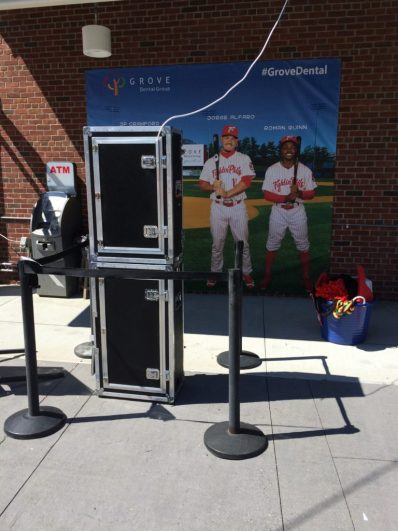 The new Grove Dental Photo Booth at FirstEnergy Stadium. (Photo: Ariane Cain)