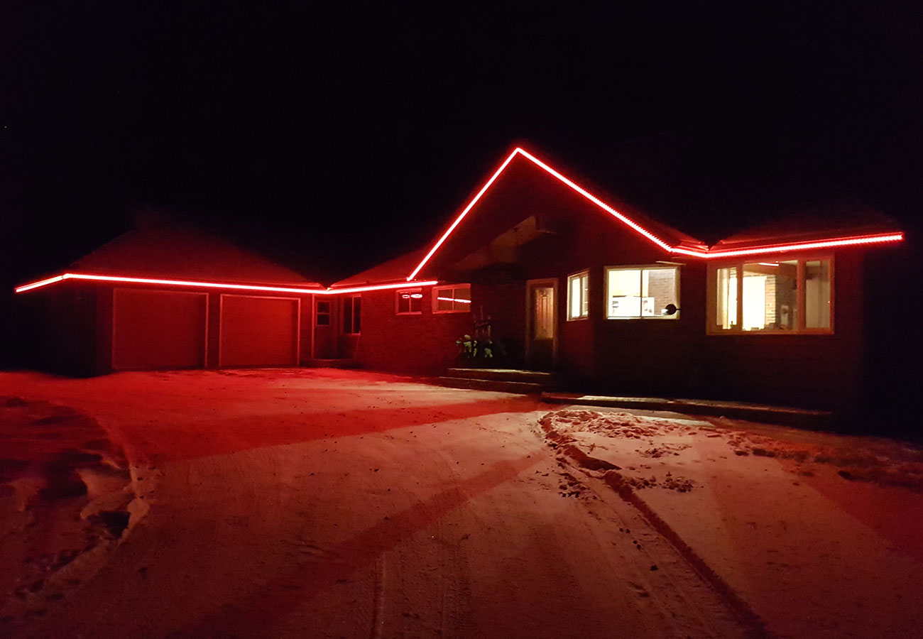 Christmas Led Lights Canada Christmas Lighting Permanent Accent Led Lighting