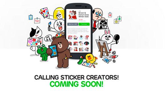 Line campaña stickers