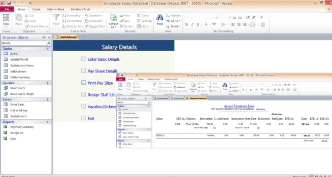 Download Student Database Microsoft Access Templates and Access