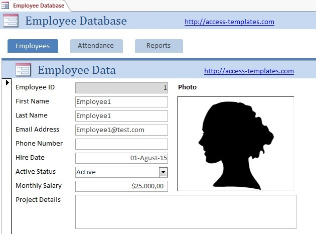 Microsoft Access Templates Employee Scheduling Database For