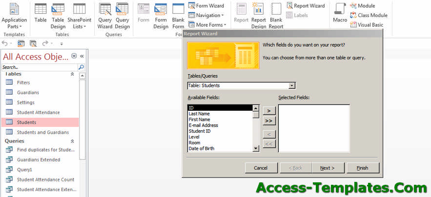 How to Create Ms Access Reports - Microsoft Access Tutorial - how to create a report