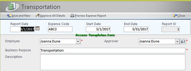 Expense Report Software for Small Business Access Templates Tutorial - expense report