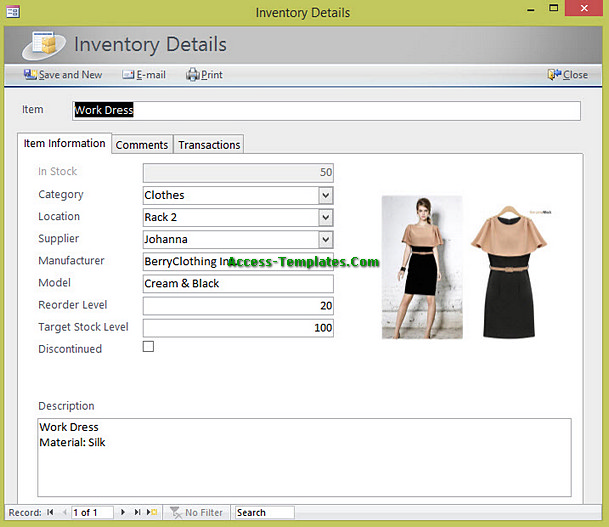 Inventory Management for Small Business Access Database Templates