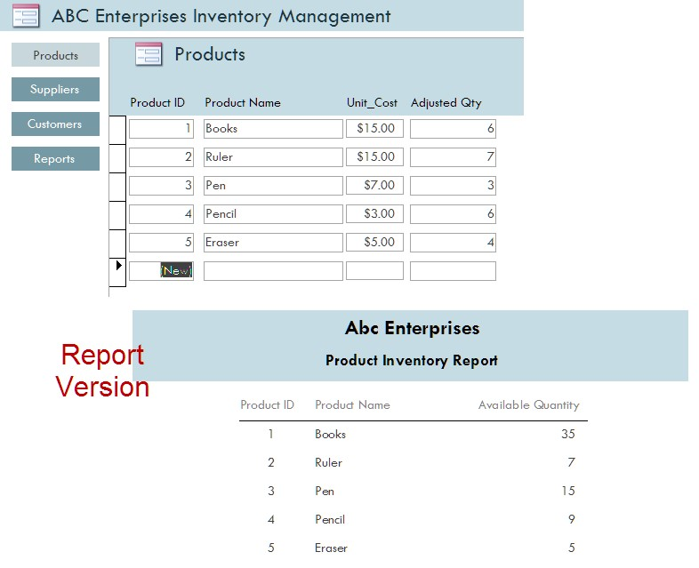 Inventory Management System for Small Business in Access Database